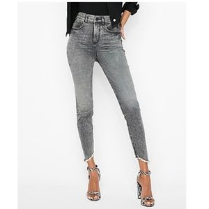 EXPRESS super high rise skinny jeans size 2